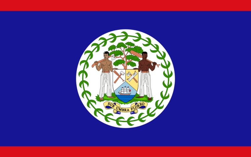 Belize flagga