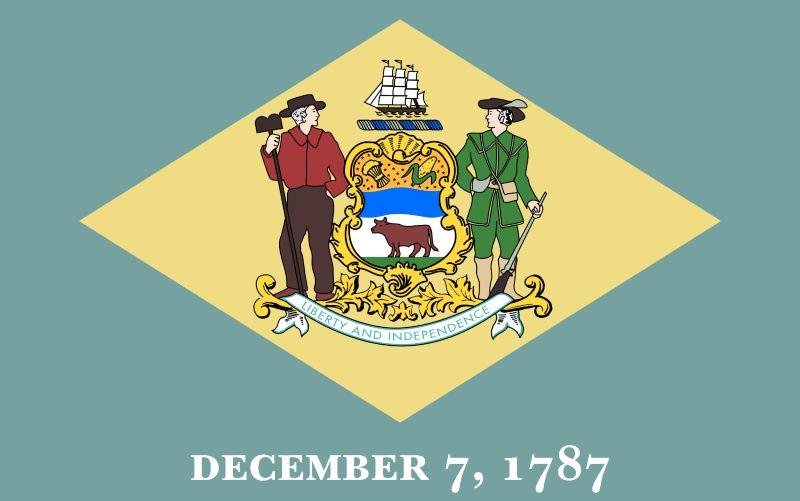 Delaware flagga