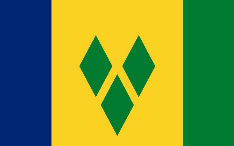 Saint Vincent och Grenadinernas flagga