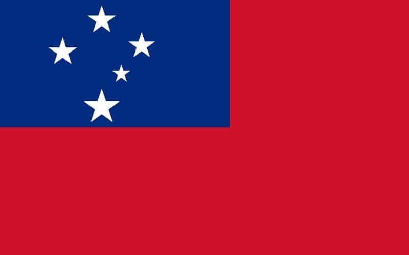 Samoaöarna flagga